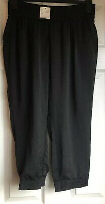 H & M Loose Fitting Crop/ Dance Style Trousers, Black, Size 12, New With Tags