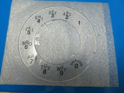 Western Electric Clear Princess Phone Rotary Dial Rings NEW OLD STOCK