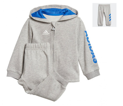 ADIDAS BOYS HOODED TRACKSUIT PLAY GYM OUTDOOR NEW FRENCH TERRY