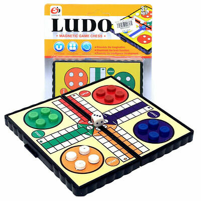 Mini Magnetic Travel Game Ludo /Chees Uk Seller Fast Dispatch