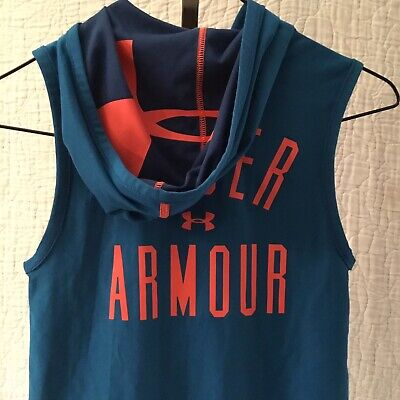 Under Armour All Season Gear Girls Vest Loose Size SM Youth Miami Dolphin Colors