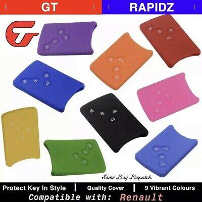 Silicone Card Key Cover Compatible With Renault Clio Logan Megane, Scenic