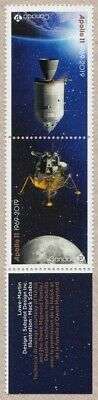 APOLLO 11 = 50th = One Tête-Bêche Pair fr SS with INSCRIPTION Canada 2019 MNH VF