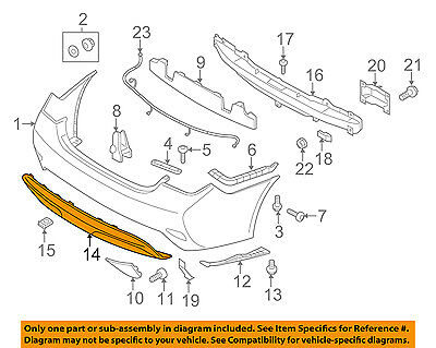 HY1195112 Rear Lower Valance Panel Fits 2014-2014 Hyundai Sonata
