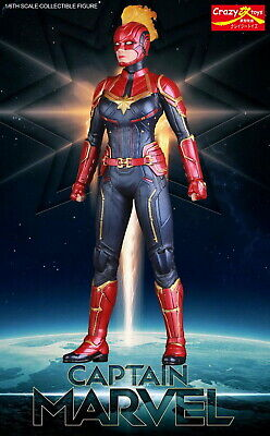 Crazy Toys 1/6 Scale Captain Marvel Collectible Figure Model Statue New