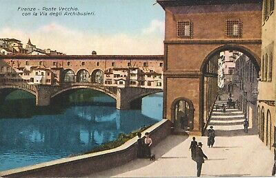 Postcard Italy Florence Firenze Ponte Vecchio bridge 2 Tuscany unposted