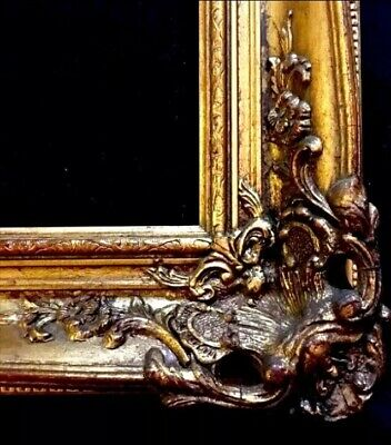 Antique Style Ornate Gold Gilt Gesso Detail Wooden Picture Frame 62x75cm Rebate