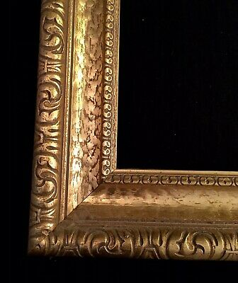Antique Style Ornate Gold Gilt Gesso Detail Wooden Picture Frame 67x57cm Rebate