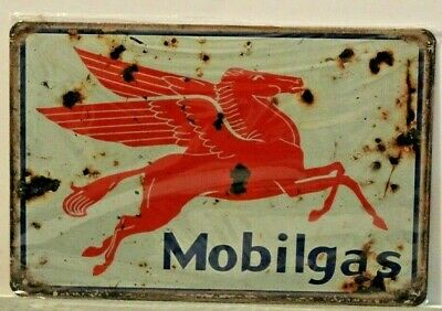 MGMS2A Mobil Gas Metal Sign New 30 cm W X 20 cm H