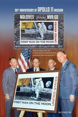 Maldives - 2019 Apollo 11 Returns Home - Stamp Souvenir Sheet - MLD190215b