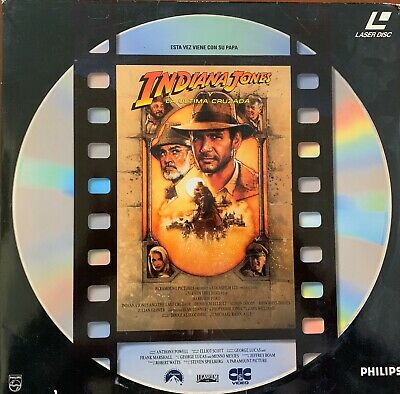 Indiana Jones Y La Ultima Cruzada Laser Disc.