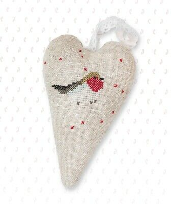 Luca - S Counted cross Stitch Kit - Robin Heart - Christmas Decoration