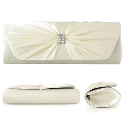 Fashion Trendy Elegant Stylish Silk Evening Bag Wedding Party Handbag Clutch Bag