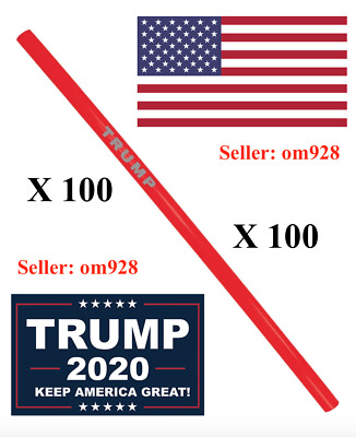 Official Trump MAGA Reusable Straws - Pack of (100) - SOLD OUT