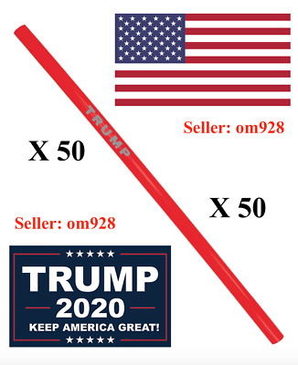 Official Trump MAGA Reusable Straws - Pack of (50) - SOLD OUT
