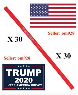 Official Trump MAGA Reusable Straws - Pack of (30) - SOLD OUT