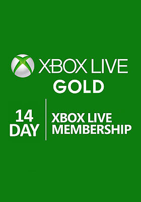 Xbox Live 14 Days Trial Gold Membership for Xbox One 2 Week Card