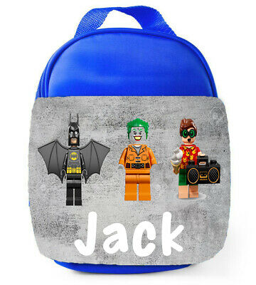 Personalised Boys Lego Batman School Lunch Bag Insulated Childrens Kids Lunchbox