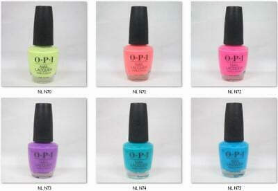 """OPI Lacquer Nail Polish Neon Collection Summer 2019 NL N70 to N75 """"PICK ANY"""""""