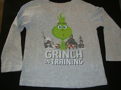 "Dr Suess Baby  Grinch Christmas  Tee Shirt Nwot ""  Grinch In Training """