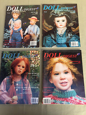 AUSTRALIAN DOLL DIGEST 4 Magazines No. 56, 57, 58, 59 with Paper Doll Cut Outs