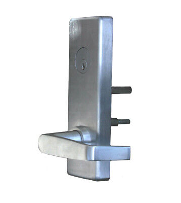 PDQ 6-EW-09-PHL Wide Escutcheon Plate Night Latch Lever for Panic Device - NEW