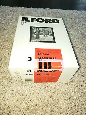 Ilford Photographic 5X7in Glossy Paper Ilfospeed RC Deluxe - 250 Sheets Open Box