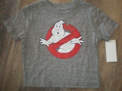 Boys Ghostbusters Halloween Shirt NEW Size 12M or 2T Heather Gray Tee