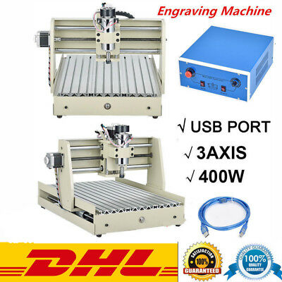Usb 3 Axis 3040 Cnc Router Engraver Cutting Carving Tool Woodworking Machine Uk