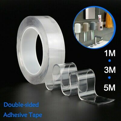 Reusable Magic Nano Tape Double Sided Traceless Adhesive Clear Tape Removable Lw