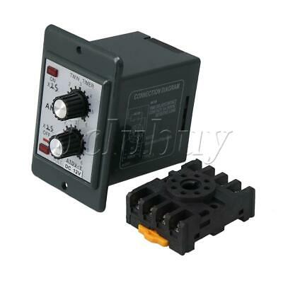 DC12V Timer Repeat Cycle Time Relay 12-12s Adjustable On Off Control