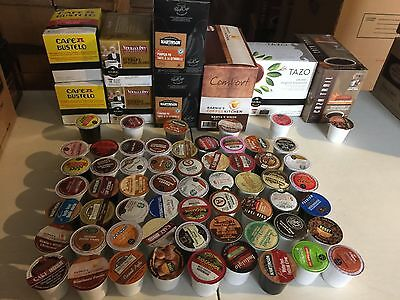 200 Count K Cups Variety Lot - Coffee and Cappuccino Only - NO Tea Cocoa Cider