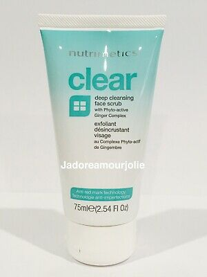 NUTRIMETICS CLEAR DEEP CLEANSING FACE SCRUB EXFOLIANT 75ml  BRAND NEW RRP $34
