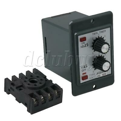 DC12V Delay Timer Repeat Cycle Time Relay 1.2-12s Adjust On Off Control