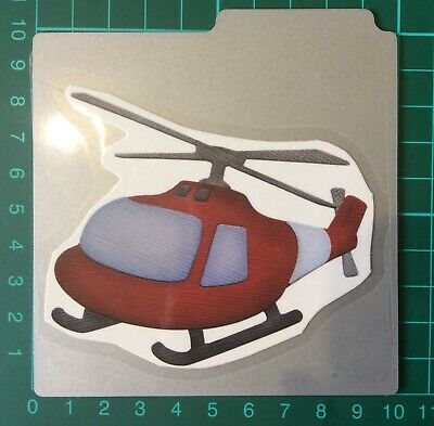RARE QUICKUTZ craft cutting die HELICOPTER Retired exclusive QUALITY
