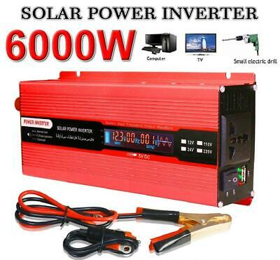 Solar 6000W Power Inverter DC 12V to AC 220V Modified Sine Converter LCD