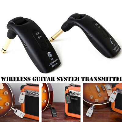UHF Guitar Wireless System Transmitter Receiver Built-in Rechargeable W2L7