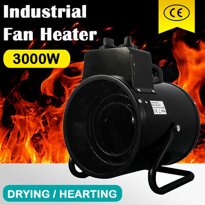 Electric Industrial Fan Heater 3000W Portable Workshop Floor Dryer Air Blower AU