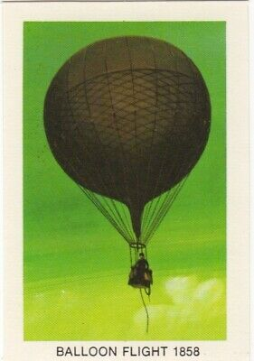 Tip Top Bread - Great Sunblest Air Race Cards.Balloon flight 1858 (different)