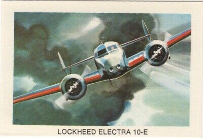 Tip Top Bread - Great Sunblest Air Race Cards.Lockheed Electra (different)