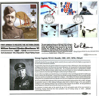 2008 Air Displays Signed Group Captain Bill Randle Benham First Day Cover Shs