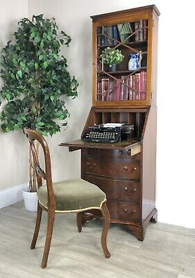 Stunning Reproduction Antique Bureau Library  Bookcase With Glass Doors Y52
