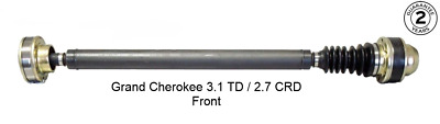 Jeep Grand Cherokee 2.7 CRD & 3.1 TD Front Prop Shaft Propshaft WJ WG **NEW**