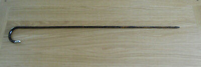 Antique 1915? Gentleman's Cane stick with Horn Top, Silver Nose piece