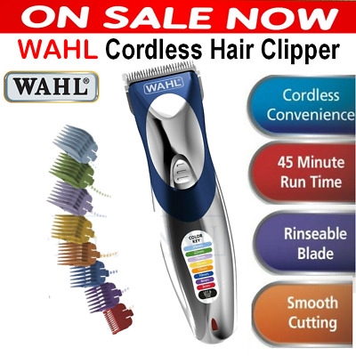 Wahl Mens Cordless Hair Clipper Trimmer Shaver Rechargeable Clippers Electric