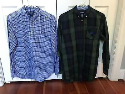 Ralph Lauren POLO/CHAPS Lot 2 Boys Long Sleeve button down dress Shirts 18/20 XL