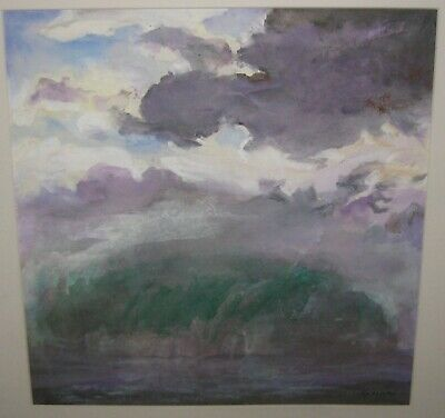 Vintage BOB GASOI 'Isle of the Dead' PROVINCETOWN Cape Cod Abstract PAINTING