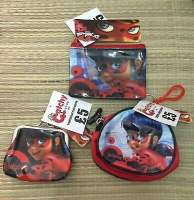 Miraculous Ladybug Fabric or PVC Coin Or Wallet - Zip up or Traditional Clasp