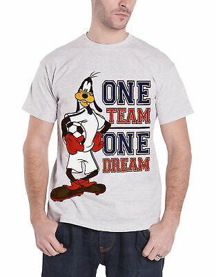 Goofy T Shirt Disney One Team One Dream Logo Official Mens New Heather Grey Size