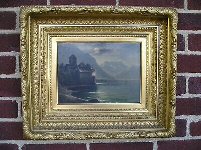 Stunning Antique Aesthetic Victorian Gold Deep Ornate Picture Frame Old Painting